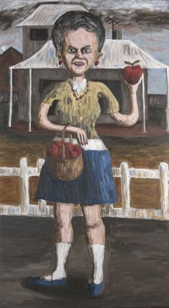 an apple my dearlf oil on canvas 136  76cm