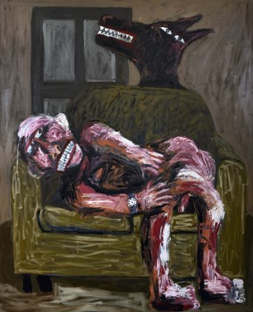 tom-phillips-between-the-clock-and-bed-3-2015-oil-on-canvas-167cm-x-136cm